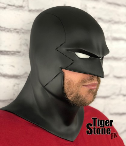 Red Robin cowl - earless comic cowl Space Ghost Midnighter etc made by Tiger Stone FX (side)