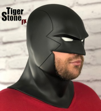Red Robin cowl - earless comic cowl Space Ghost Midnighter etc made by Tiger Stone FX