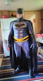 Robert Tharpe with tiger stone fx Batman Rebirth cowl and chest emblem