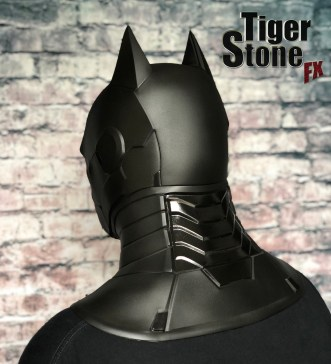 Armored Batman cowl (back) - by Tiger Stone FX