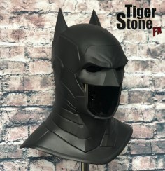 Armored Batman cowl (pic of cowl on it's own)- by Tiger Stone FX
