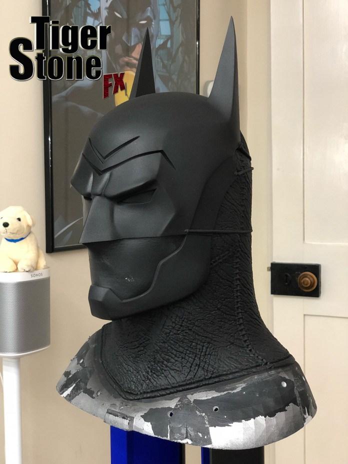 Batman Ninja cowl custom commission update -- Tiger Stone FX- almost done