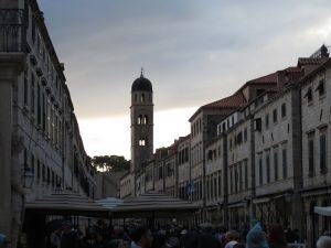 Dubrovnik Stradun at dusk