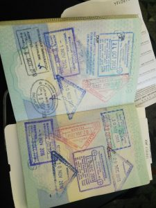 South East Asia passport stamps