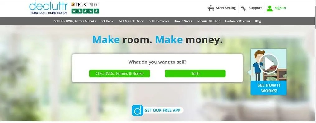 Decluttr -Sell Old CDs and Other Clutter – $10 Signup and