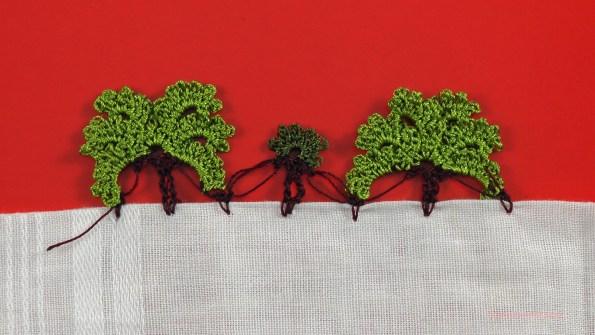 söğüt ağacı motifli yazma kenarı