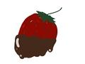 イラスト販売:チョコがけ苺(イチゴ)のガーリーなイラスト素材。