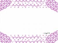 フリー素材:ラブリーなピンクのドイリー風イラスト:フレーム素材