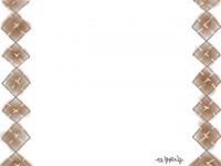 フリー素材:フレーム;ガーリーで大人可愛いアーガイル風のイラスト素材
