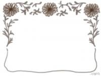 フリー素材:フレーム;ガーリーなマーガレットのイラスト無料素材