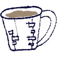 フリー素材:twitterアイコン・メニュー;北欧風マグカップのイラスト。webデザイン素材。