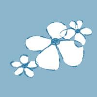 フリー素材:twitterアイコン・メニュー;ガーリーな小花のweb素材