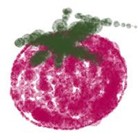 フリー素材:twitterアイコン・メニュー;夏の野菜(トマト)のイラスト。webデザイン素材。