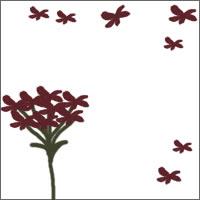 フリー素材:ガーリーな秋色の花のバナー広告素材(200×200pix)