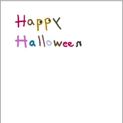 フリー素材:バナー広告:200pixサイズ;ガーリーなハロウィンの手書き文字のwebデザイン素材