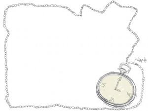 フリー素材640480pixレトロな懐中時計のイラスト素材 Webデザイン