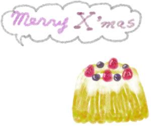 フリー素材:バナー広告:300×250pix;ガーリーな苺とブルーベリーのクグロフ(ケーキ)のwebデザイン素材