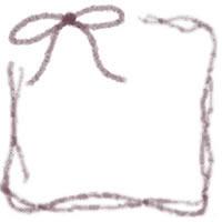 フリー素材:バナー・アイコン:200pix;紫のリボンの飾り枠のwebデザイン素材