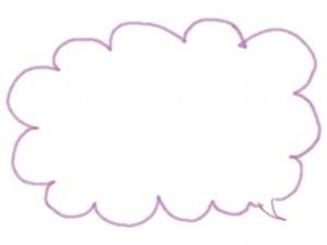 フリー素材:吹出し:640×480pix;ピンクのもこもこのライン吹出しのwebデザイン素材