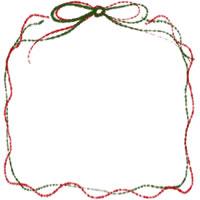 フリー素材:アイコン;大人かわいいリボンの飾り枠。クリスマスのwebデザイン素材