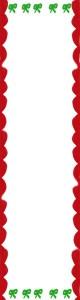 フリー素材:バナー広告:160×600pix:大人かわいいリボンと飾り枠のクリスマスのwebデザイン素材
