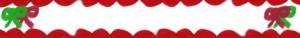 フリー素材:バナー広告:フルバナー(468×60pix):大人かわいいリボンと飾り罫のクリスマスのwebデザイン素材