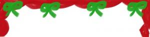 フリー素材:ヘッダー:800pixサイズ;大人かわいいリボンのクリスマスのwebデザイン素材