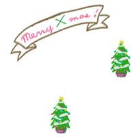 フリー素材:壁紙・背景・デクスチャ;大人かわいいクリスマスツリーのガーリーなwebデザイン素材