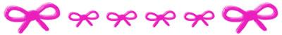 フリー素材:飾り罫・罫線:ピンクのリボンの大人かわいいwebデザイン素材