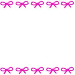 フリー素材:バナー・アイコン:250pix;ピンクのリボンの大人かわいい飾り枠のバナー広告素材