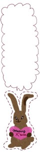 フリー素材:バナー広告:160×600pix:うさぎとハートのmerryX'masと吹出しの大人かわいいバナー広告のデザイン素材