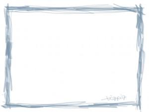 ネットショップ、webデザインのフリー素材:パステルブルーのシンプルな鉛筆風ラインの飾り枠。大人かわいいフレームのwebデザイン素材