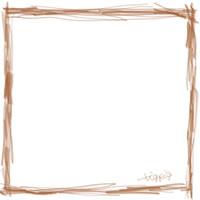 バナー広告、webデザインのフリー素材:大人かわいい茶色のシンプルな鉛筆風ラインの大人かわいい飾り枠
