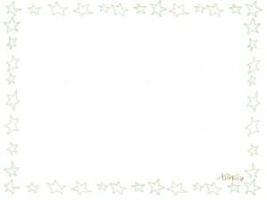 ネットショップ、webデザインのフリー素材:大人かわいい手描きの星の飾り枠。シンプルなモスグリーンの鉛筆風イラストのフレーム。
