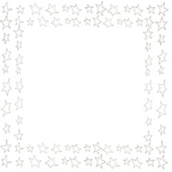 バナー広告、アイコンのフリー素材:スクエアポップアップ(250pix);ブラウンブラックの大人かわいい星いっぱいの飾り枠。バレンタイン、ホワイトデーのwebデザイン素材