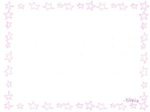 ネットショップ、webデザインのフリー素材:大人かわいい鉛筆風パステルブルーのラインの星の飾り枠。