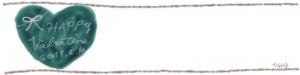ネットショップ、webデザインのフリー素材:深緑のハートと大人かわいいValentine2011214の手書き文字のヘッダーの背景画像