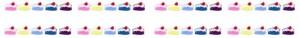 ネットショップ、webデザインのバナー広告素材:ポップ&ガーリーなショートケーキのフルバナー広告のwebデザイン素材(468×60pix)