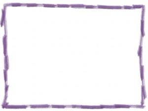 ネットショップ、webデザインのフリー素材:シンプルな紫野色鉛筆風ラインの大人可愛い飾り枠(フレーム)