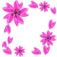 アイコン(twitter,mixi,ブログ)制作のフリー素材:大人可愛いピンクの桜のwebデザイン素材