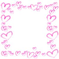 アイコン(twitter,mixi,ブログ)のフリー素材:大人可愛い薄いピンクのハートいっぱいの飾り枠のwebデザイン素材。アフィリエイトのバナー広告に。