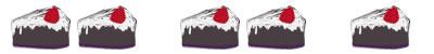 ネットショップ、webデザインのフリー素材:飾り罫;大人可愛いイチゴチョコレートケーキのイラスト