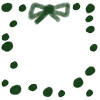 アイコン(twitter,mixi,ブログ)のフリー素材:大人可愛い緑の水玉とリボンのイラストのwebデザイン素材