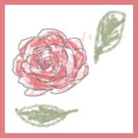 ガーリーなピンクの花(薔薇)のアイコン(twitter,mixi)のwebデザイン素材。ネットショップ、バナー広告のwebデザインに(200×200pix)