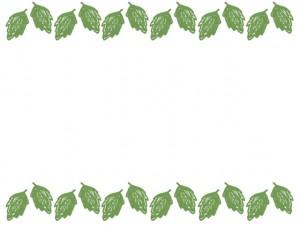 バナー広告、ネットショップのアイコンのwebデザイン素材:大人可愛い緑の葉っぱいっぱいのフレーム素材(640×480pix)