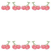 バナー広告、アイコン(twitter,mixi)、ネットショップのwebデザイン素材:ガーリーなさくらんぼの飾り罫のフレーム(200×200pix)