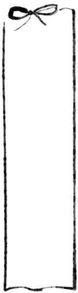 バナー広告のwebデザイン素材:大人可愛いモノクロのリボンの飾り枠(フレーム)のイラストのフリー素材(160×600pix)