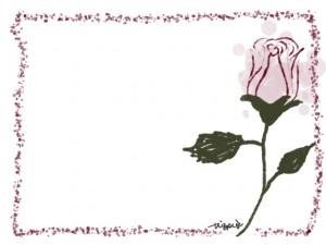 webデザイン、バナー広告、ネットショップのフリー素材:大人可愛い薔薇(バラの花)のフレーム(640×480pix)