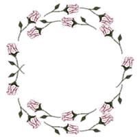 ネットショップ、バナー広告のアイコン(twitter,mixi)、webデザイン素材:ガーリーなピンクの花(バラ)のフレーム(200×200pix)
