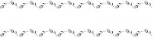 ネットショップ、webデザインのフリー素材:ピンクの大人かわいい薔薇(バラの花)の飾り罫のヘッダーの背景画像